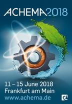 Visit us 11th-15th June 2018 at the Stand A60 Hall 6.1, ACHEMA fair in Frankfurt, Germany